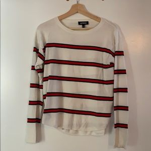 Express Red & White Striped Sweater